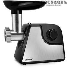 Centek CT-1622 мясорубка электрическая 1600 Вт, 1,5 кг/мин, 2 скорости, реверс есть, цвет металлик с черным