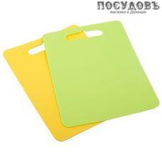 Полимербыт Комфорт 4380600 доски разделочные в наборе, материал пластик, 290×210×4 мм, Россия, 2 шт.