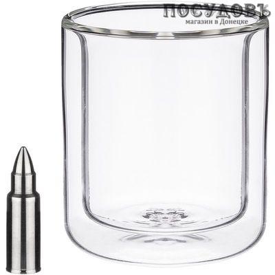 Agness 250-134 стакан с двойными стенками стекло 220 мл, 3 пр.