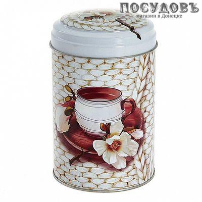 РФЖУ Чайное наслаждение 110-01855 банка для хранения с крышкой, жесть, 1100 мл