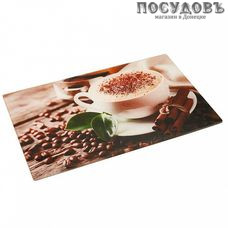 Zeraks Кофе ДВ4-006 доска разделочная, материал стекло закаленное 230×370 мм