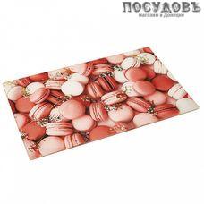 Zeraks Ля-макарунс ДВ4-004 доска разделочная, материал стекло закаленное 230×370 мм