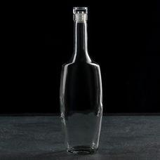 Хрустальный Звон Эвелина 2479405, графин-штоф с крышкой 500 мл, стекло