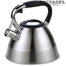 Maestro MR-1315NEW чайник со свистком 3 л, сталь нержавеющая, Китай, в упаковке