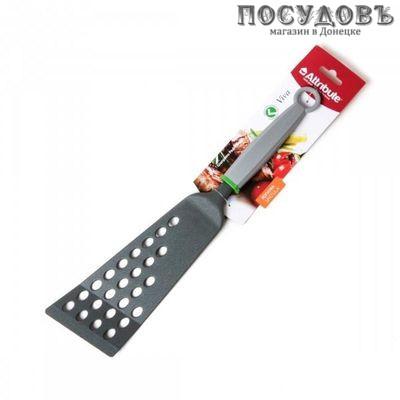 "Attribute ""Viva Grey"" AGV010, лопатка с прорезями, 360×80 мм, нейлон, пластиковая ручка, Китай, на блистере 1 шт"