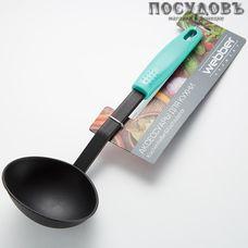 """Webber """"Fiesta"""" ВЕ-1568Y, половник, 320 мм, нейлон, пластиковая ручка, Россия, на блистере 1 шт"""
