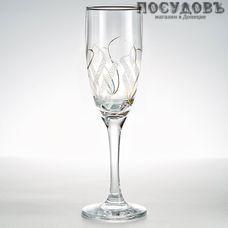 ГласСтар Крыло 3 К1687, бокал для шампанского 170 мл, материал стекло, Россия, в упаковке 6 шт.