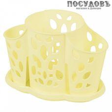 Plast Team Камелия NP4058ВН сушилка для столовых приборов с поддоном, полипропилен, 177×110×130 мм, цвет желтый, 2 пр.