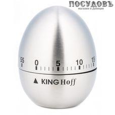 KING Hoff KH-3131 таймер кухонный на 60 минут, сталь нержавеющая, Ø60×75 мм