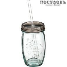 Agness 600-699, банка для смузи 450 мл, материал стекло, Китай, без упаковки 3 пр.