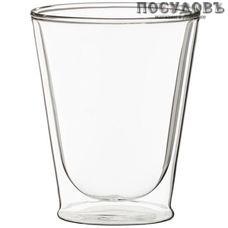 Agness 250-103 стакан с двойными стенками 300 мл, стекло, прозрачный, Китай, в упаковке 1 шт.
