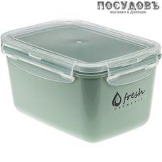 М-пластика Fresh М 1423 контейнер с крышкой, полипропилен, 180×130×100 мм, 1300 мл, фисташковый