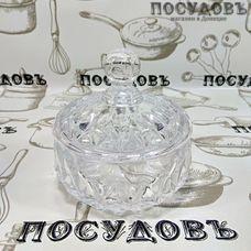 HD-SUG178 Сахарница стекло 10,5*11см в под упак HD-SUG178