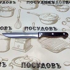 """Tramontina """"Polywood"""" TR-21126/196 нож для мяса, лезвие: сталь нержавеющая AISI 420 152×1,0 мм гладкая заточка, накладная клепанная рукоятка из обработанной древесины, цвет ореховый, Бразилия, на блистере 1 шт"""