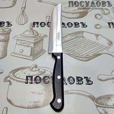 """Tramontina """"Ultracorte"""" TR-23857/106 нож для мяса, лезвие: сталь нержавеющая AISI 420 152×1 мм гладкая заточка, клепанная рукоятка полипропиленовая, цвет черный, Бразилия, на блистере 1 шт"""