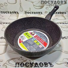 Алита Надежда 10702 сковорода Ø240×73 мм, алюминий литой, мраморное антипригарное покрытие, Россия