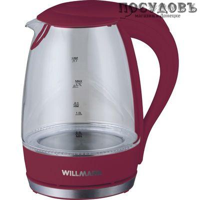 WillMark WEK-1708G электрочайник стекло термостойкое 2200 Вт 1700 мл
