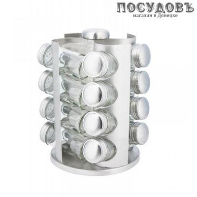 KING Hoff KH-4006 набор для специй, стекло, хромированый металл, мл