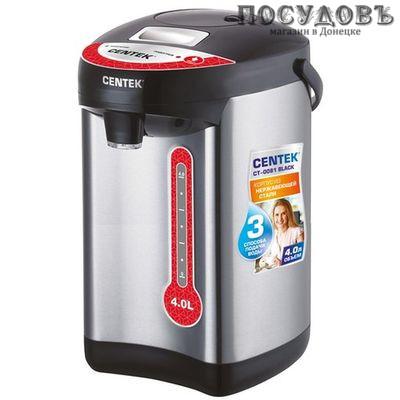 Centek CT-0081 термопот 4,0 л, 750 Вт, стальной матовый