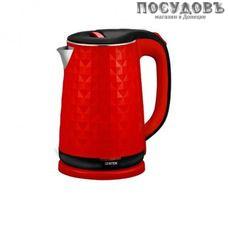 Centek  CT-0022 электрочайник, 2000 Вт, 1800 мл, двойной нержавейка/пластик, цвет красный