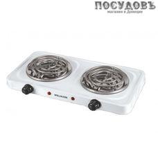 WillMark HS-210TW плита электрическая, 2-конфорочная, 2000 Вт, эмалированное покрытие, цвет белый