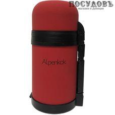 Alpenkok AK-08001M термос, колба сталь нержавеющая 800 мл, покрытие soft touch, цвет красный, Китай