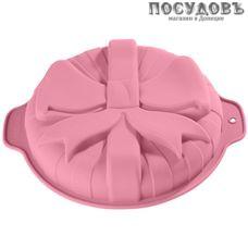 Alpenkok Подарок AK-6032S круглая форма для выпечки, силикон, 300×260×60 мм, цвет розовый