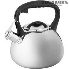 Alpenkok AK-516 чайник со свистком, 3 л, сталь нержавеющая, цвет: зеркальный