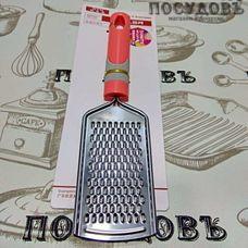 КНР 16170-15 терка одинарная, (сталь нержавеющая), пластиковая ручка, Китай, 1 шт