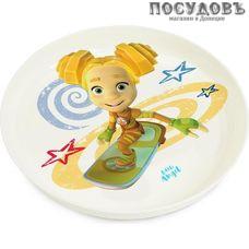 Little Angel Фиксики Шпуля LA1315-2 тарелка детская, Ø187×25 мм, 450 мл, полипропилен, Россия