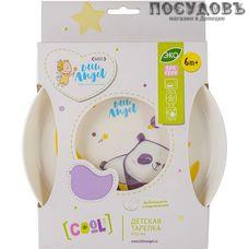 Little Angel Cool Panda LA1103 тарелка детская, Ø187×25 мм, 450 мл, полипропилен, Россия