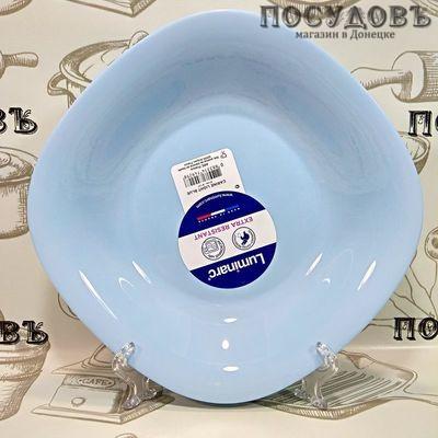 Luminarc Carine Light Blue P4250 тарелка глубокая, стекло упрочненное, 210×210 мм, 630 мл, Франция, 1 шт.