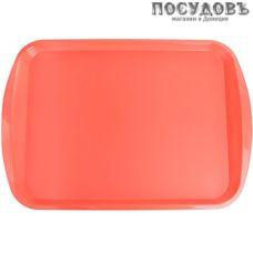 Plast Team РТ9214КОРАЛ-12 поднос, пластик, 365×255 мм, коралловый, Россия 1 шт.
