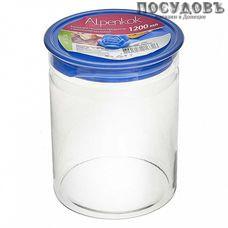 Alpenkok АК-9704 банка для хранения с герметичной крышкой, 1200 мл, стекло, Китай, без упаковки 2 пр.