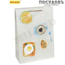 Optima Вкусный завтрак ППД-0098 пакет подарочный ML-220×310×100 мм, бумага, матовая ламинация