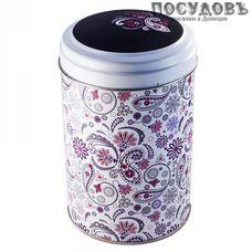 РФЖУ Бута 110-00702 банка для хранения с крышкой,Ø99×145 мм, 1100 мл, жесть, Россия, без упаковки 2 пр.