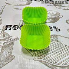 Market Fresh Выпекаем 7759 набор форм для выпечки кексов, силикон, 55×55×30 мм, 4 шт