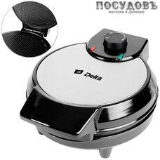 Delta Вафля DL-032 вафельница электрическая Ø205 мм, 700 Вт, цвет металлик с черным