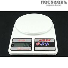 A-plus 1657-3 весы кухонные, 235×165×30 мм, до 10,0 кг
