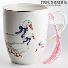 """Beatrix """"Гуси"""" МН092L1 кружка подарочная, цвет белая с рисунком, 350 мл, фарфор, Китай, в подарочной упаковке 1 шт"""