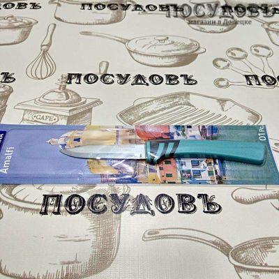 """Tramontina """"Amalfi"""" нож овощной, лезвие: сталь нержавеющая AISI 420 76×1,0 мм гладкая заточка, всадная полипропиленовая рукоятка, Бразилия, на блистере 1 шт"""