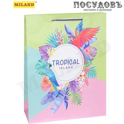Optima Тропический остров ППД-9871 пакет подарочный 264×327×80 мм, бумага, матовая ламинация