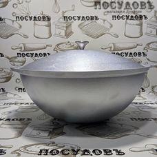 Kukmara кз60 казан объемом 6,00 л, Ø335 мм, алюминий литой, однослойное дно, с крышкой, Россия