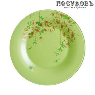 Luminarc Ipomea Vert P3052 тарелка десертная, Ø195 мм, стекло упрочненное, Франция 1 шт.