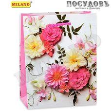 Optima Весенний букет из нежных цветов ПП-9158 пакет подарочный, 150×120×60 мм, бумага, глянцевая ламинация