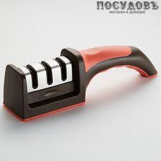 Webber ВЕ-5359, точило для ножей, 215×50×65 мм, цвет черный с красным, Россия, в упаковке 1 шт.