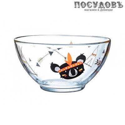 Luminarc Kotipi N4104 салатник, стекло упрочненное, цвет прозрачный с рисунком, Ø140 мм, 500 мл, Франция 1 шт.