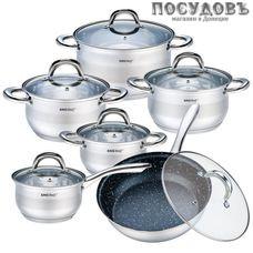 KING Hoff KH-1098 набор посуды, сталь нержавеющая, 12 пр.
