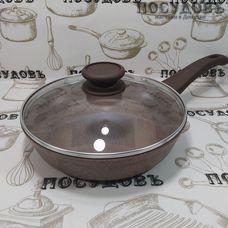 Гардарика Алтай 1222-07-10 сковорода с крышкой Ø220×55 мм, алюминий литой, мраморное покрытие Greblon C2+ (Германия), 2 пр.