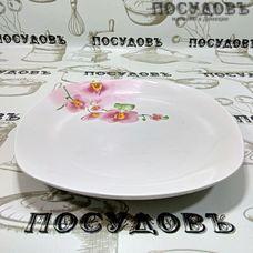 Батлер Цветущая орхидея AL-03 тарелка обеденная, керамика, 230×230 мм, Китай, без упаковки 1 шт.